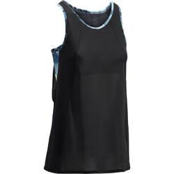 Top+met+ingewerkte+beha+voor+cardiofitness+zwart+500+Domyos+1270941